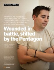 Wounded in battle, stiffed by the Pentagon - Thomson Reuters