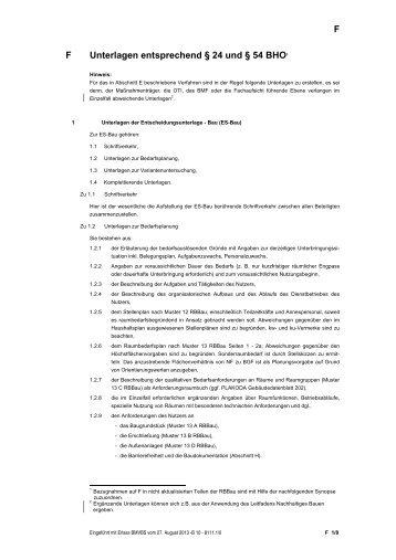 Abschnitt F (Stand: 27.08.2013) - Baumassnahmen für die ...