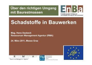 Mag. Hans Daxbeck, Ressourcen Management Agentur (RMA)