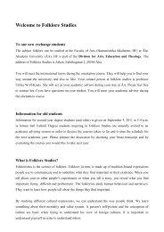 Courses in Swedish (5 credits each) - Åbo Akademi