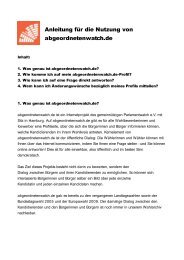 Anleitung für die Nutzung von abgeordnetenwatch.de