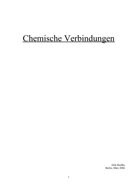 Chemische Verbindungen Abiwisseninfo