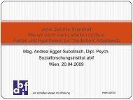 Andrea Egger-Subotitsch - bei abif
