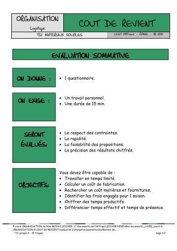 Evaluation Sommative - Académie de Nancy-Metz