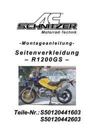 Seitenverkleidung – R1200GS – Teile-Nr ... - AC Schnitzer