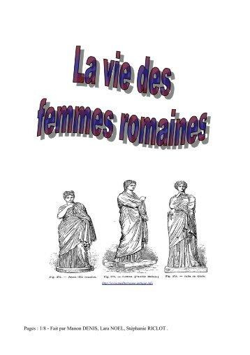 La vie des femmes romaines - Académie de Nancy-Metz