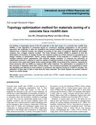 Topology optimization method for materials zoning of a concrete ...