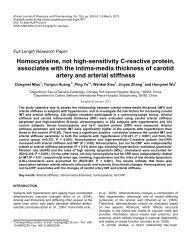 Homocysteine, not high-sensitivity C-reactive protein, associates ...