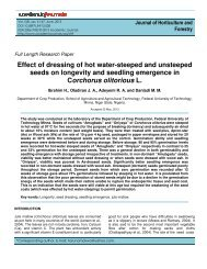 Effect of dressing of hot water-steeped and unsteeped seeds on ...