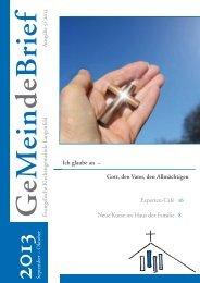 September – Oktober 2013 - Evangelische Kirchengemeinde ...