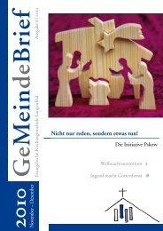 November – Dezember 2010 - Evangelische Kirchengemeinde ...