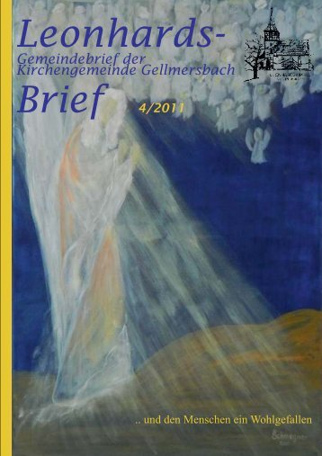 Gemeindebrief 4/2011 - Evangelische Kirchengemeinde ...