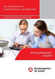 Wirtschaftswissenschaftler - Statistik der Bundesagentur für Arbeit