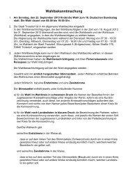 Wahlbekanntmachung - Stadt Troisdorf