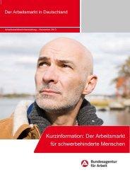 Kurzinfo 2013 - Statistik der Bundesagentur für Arbeit