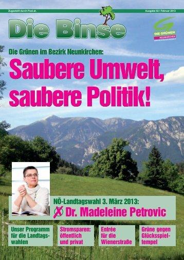 Dr. Madeleine Petrovic - Die Grünen