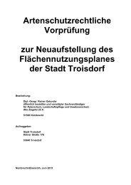 Fachgutachterliche artenschutzrechtliche ... - Stadt Troisdorf