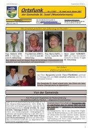 Ortsfunk-Jänner-2007 - St. Josef