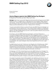 BMW Sailing Cup 2012 - BMW Niederlassung Stuttgart