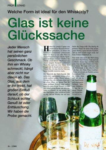 Glas ist keine Glücksache - Der Whisky-Botschafter