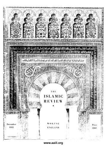 The Islamic Review - Ahmadiyya Anjuman Isha'at-e-Islam Lahore
