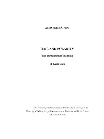 TIME AND POLARITY - E-thesis