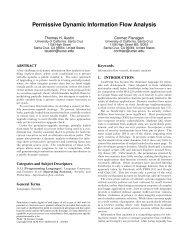 Permissive Dynamic Information Flow Analysis - University of ...