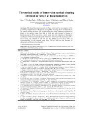 Theoretical study of immersion optical clearing of blood in vessels at ...