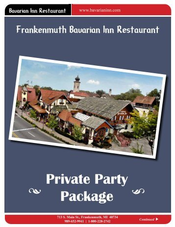 Private Party Package - Bavarian Inn