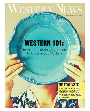 August 22, 2013 - Western News - University of Western Ontario