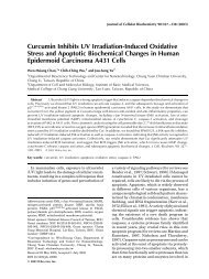 Curcumin Inhibits UV Irradiation-Induced Oxidative Stress and ...