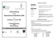 Ausschreibung - Bayerische Staatsforsten
