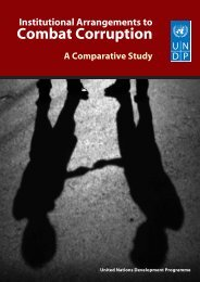 Comparative Study of Institutional Arrangements to Combat Corruption