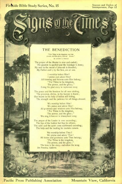 THE BENEDICTION - Adventistarchives org