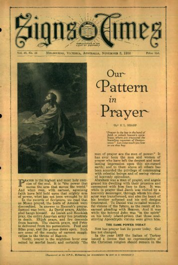 ^attern Prayer - adventistarchives.org