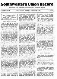 Southwestern Union Record