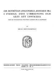 OM ROTRÖTAN (POLYPORUS ANNOSUS FR.) I SVERIGE. DESS ...