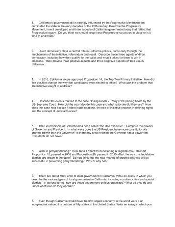 California Challenge Exam Questions - Humboldt State University