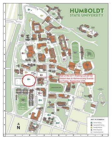 G11 Parking Lot Closure - Humboldt State University