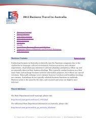 2013 Business Travel to Australia - Export.gov