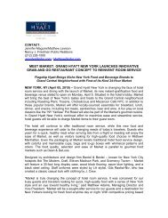 grand hyatt new york launches innovative - Hyatt Hotels and Resorts