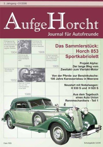 Das Sammlerstück Horch 853 Sportkabriolett - AufgeHorcht