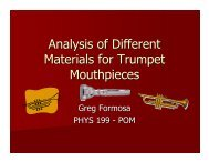 Analysis of Different Materials for Trumpet Mouthpieces
