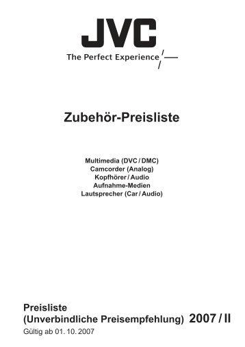 Zubehör-Preisliste - JVC