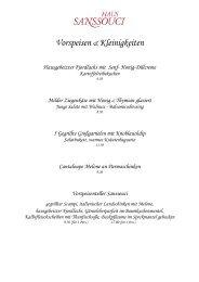 Vorspeisen & Kleinigkeiten - DiningCity