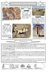 LES CONSTRUCTIONS ROMAINES