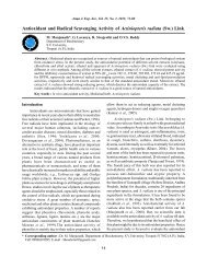 Antioxidant and Radical Scavenging Activity of Actiniopteris ... - Ajes.in