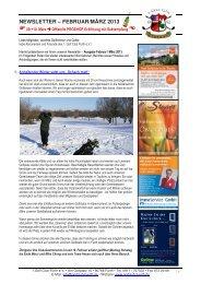 NEWSLETTER – FEBRUAR/MÄRZ 2013 - Golfclub Fürth