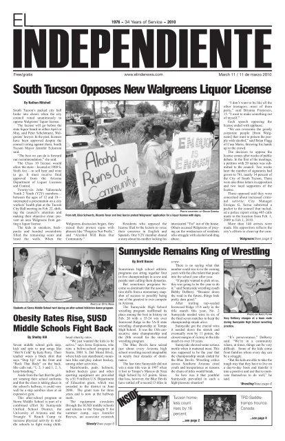 South Tucson Opposes New Walgreens Liquor License - School
