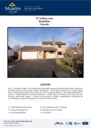£249,950 19 Ashing Lane Dunholme Lincoln - Vebra